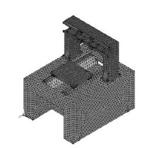 数控雕铣机床床身网格图