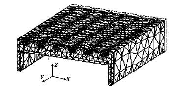 数控木工雕刻机工作台系统的第一阶振型(f=131.0Hz)
