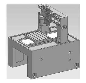 GSFD4050雕铣机三维效果图
